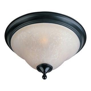 Maxim Ice Shade 2-light Black Linda Flush Mount Light