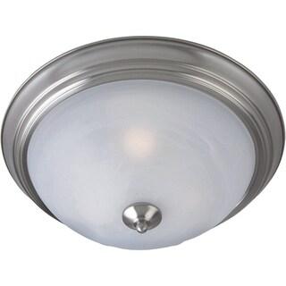 Maxim Marble Shade 3-light Nickel Flush Mount Light EE Flush Mount Light