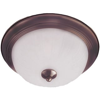 Maxim Frosted Shade 2-light Bronze Essentials 583x Flush Mount Light