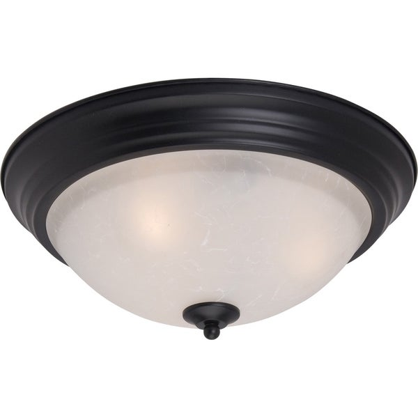 Maxim Ice Shade 2-light Black Essentials 584x Flush Mount Light