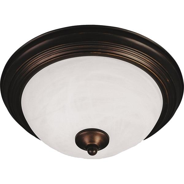 Maxim Marble Shade 3-light Bronze Essentials 584x Flush Mount Light