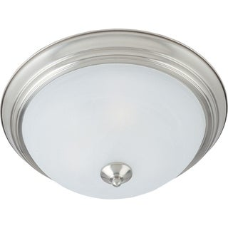 Maxim Marble Shade 3-light Nickel Essentials 584x Flush Mount Light