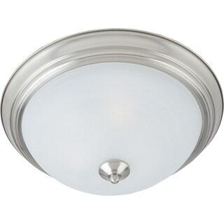 Maxim Marble Shade 3-light Nickel Essentials 584x Flush Mount Light