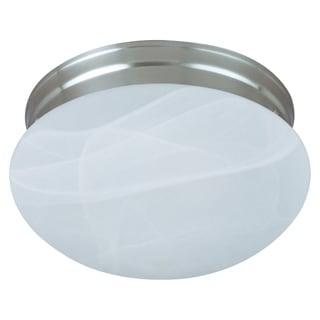 Maxim Iron Shade 2-light Nickel Essentials 588x Flush Mount Light