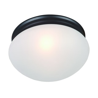 Maxim Frosted Shade 2-light Nickel Essentials 588x Flush Mount Light