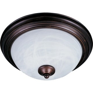 Maxim Bronze Essentials Marble Shade 2-light 584x Flush Mount Light