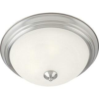 Maxim Marble Shade 1-light Nickel Essentials 584x Flush Mount Light