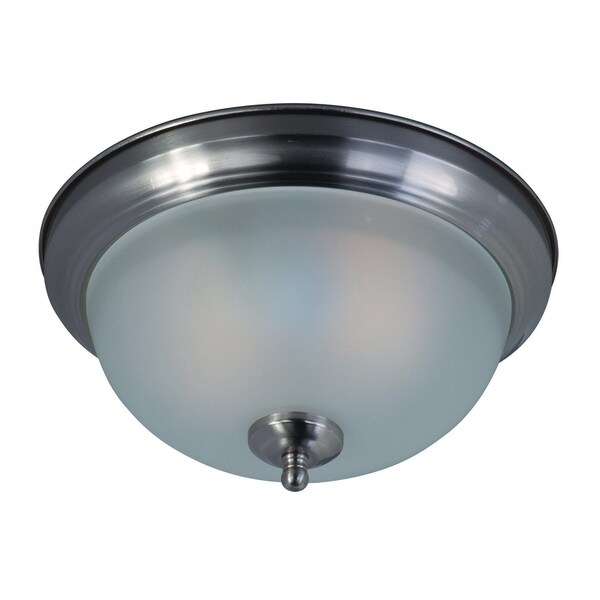 Maxim Frosted Shade 2-light Nickel EE Flush Mount Light