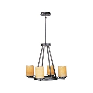 Maxim Stone Candle Shade 4-light Luminous Single Tier Chandelier