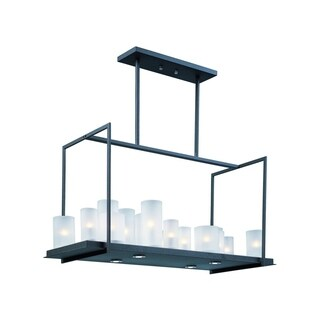 Maxim Frosted Shade 20-light Black Urban Nights Single Tier Chandelier