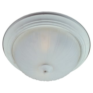 Maxim Frosted Shade 1-light White Essentials 583x Flush Mount Light