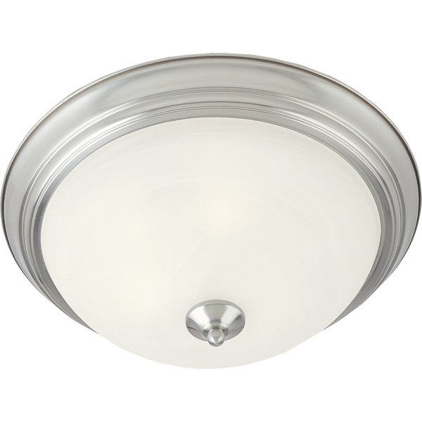 Maxim Marble Shade 2-light Nickel Essentials 584x Flush Mount Light