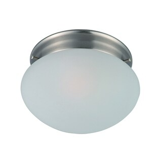 Maxim Iron Shade 1-light Nickel Essentials 588x Flush Mount Light