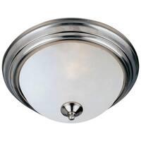 Maxim 2-light Frosted Shade Nickel Essentials 584x Flush Mount Light