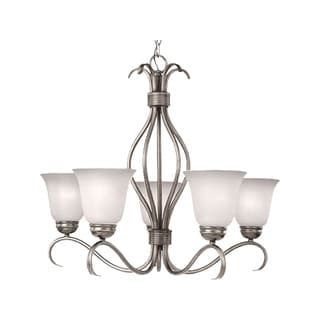Maxim Ice Shade 5-light Nickel Basix Single Tier Chandelier