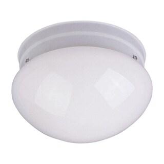 Maxim White Shade 2-light White Essentials 588x Flush Mount Light