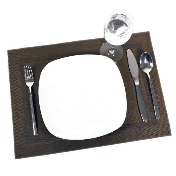Brown Frame Placemat (Set of 12)