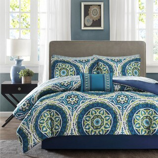 Clay Alder Home Prowers Blue Complete Comforter and Cotton Sheet Set (More options available)