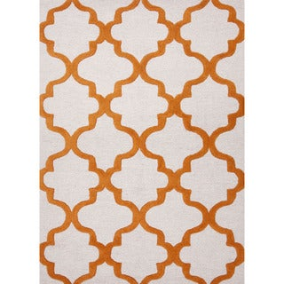 Hand-tufted BL01_RNR Brown/ Red Area Rug (2.6' x 8')