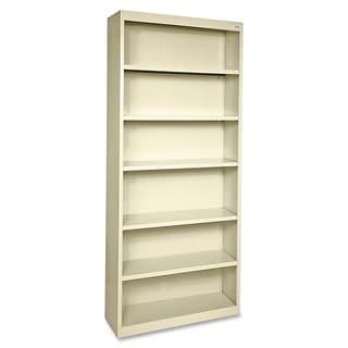 Tan Lorell Fortress Series 6-shelf Bookcase