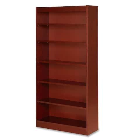 Lorell Six Shelf Panel Cherry Bookcase