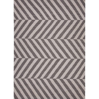 Flat Weave MR56 Grey/ Ivory Area Rug (2' x 3')