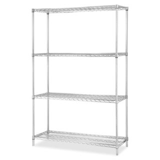 Lorell Industrial Wire Shelving Chrome Add-on Unit
