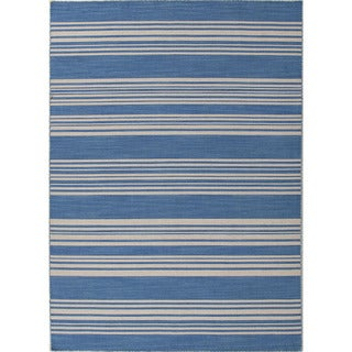 Flat-woven PV44 Blue/ Ivory Area Rug (2' x 3')