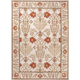 Hand-Tufted Oriental Pattern Ivory/Red (3.6x5.6) - PM72 Area Rug