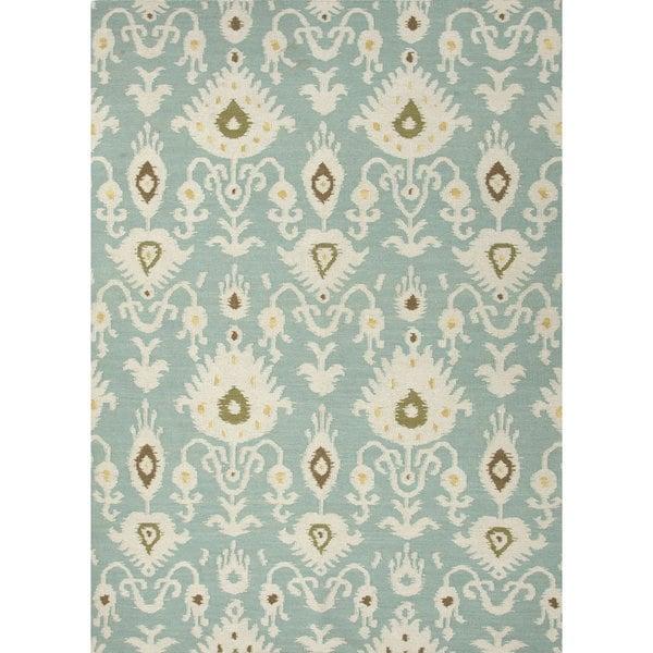 Cinta Handmade Ikat Blue/ White Area Rug (2' X 3') - 2' x 3'