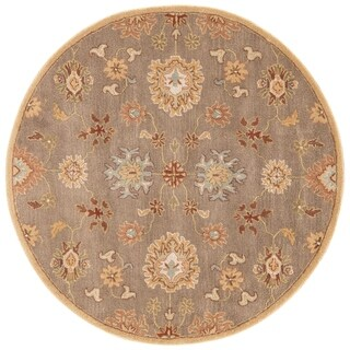 Savani Handmade Floral Brown/ Multicolor Area Rug (8' X 8') - 8' x 8' Round