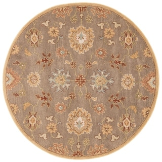 Hand-Tufted Oriental Pattern Brown/Red (6x6) - PM14_RD Area Rug