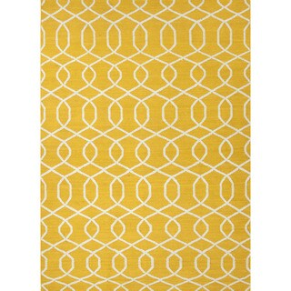 Flat-Weave Geometric Pattern Yellow/Ivory (2x3) - UB13 Area Rug