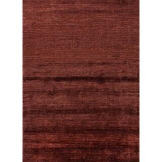 Solids/ Handloom Solid Pattern Red (2x3) -LU01 Area Rug