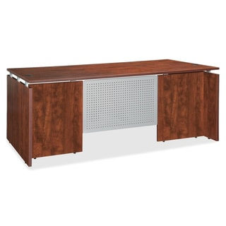 Cherry Lorell Ascent Rectangular Executive Desk