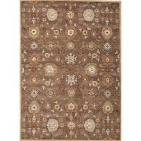 Savani Handmade Floral Brown/ Multicolor Area Rug (5' X 8')