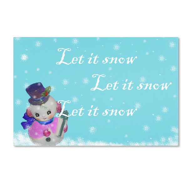 Patty Tuggle 'Snowman 2' Canvas Art - Multi