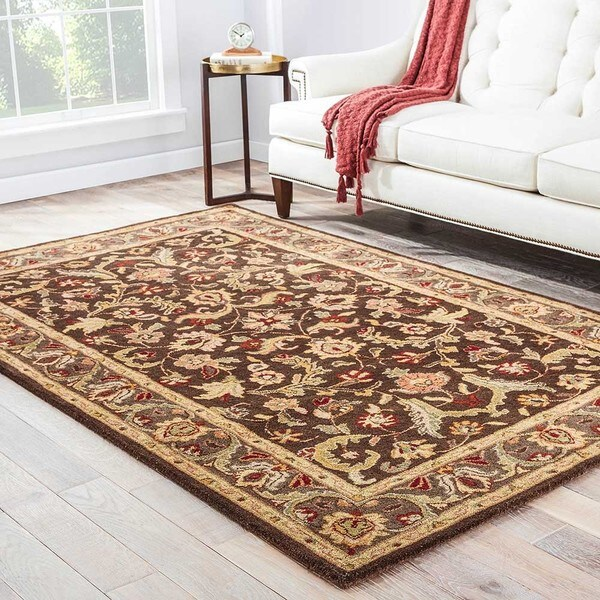 Mayfair Handmade Floral Brown/ Multicolor Area Rug (5' X 8')