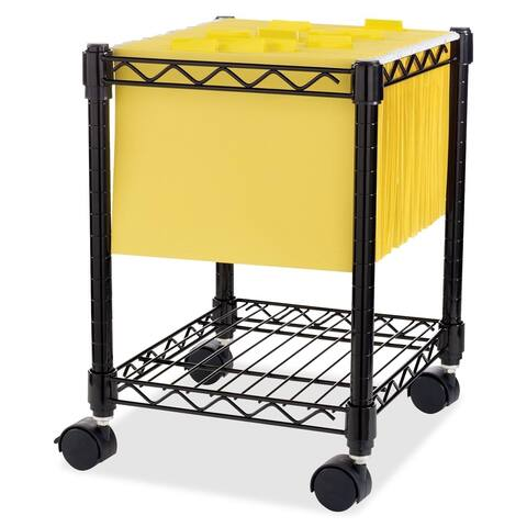 Black Lorell Compact Mobile Wire Filling Cart
