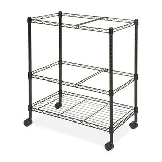 Black Lorell Mobile Wire File Cart