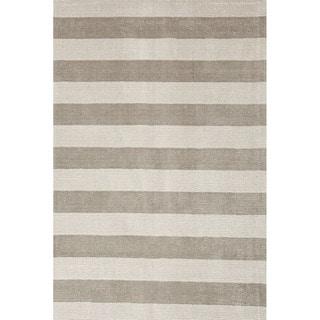 Solids/ Handloom Solid Pattern Grey/Ivory (2x3) - KT16 Area Rug