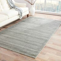 Minke Handmade Solid Light Gray/ Silver Area Rug - 9' x 13'
