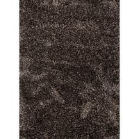 Axel Solid Black/ Brown Area Rug (8' x 10') - 8' x 10'