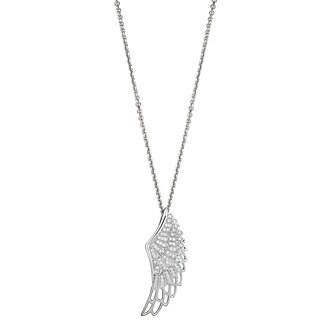 Decadence Sterling Silver Micropave Cubic Zirconia Wing Pendant