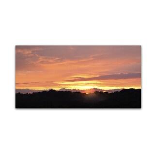 Kurt Shaffer 'Valley Sunset' Canvas Art