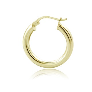 Mondevio Sterling Silver High Polish 20 mm Round Hoop Earrings