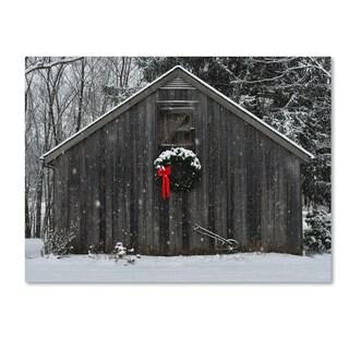 Kurt Shaffer 'Christmas Barn in the Snow' Canvas Art