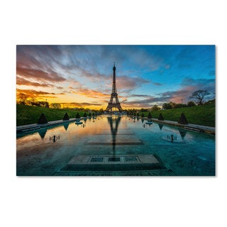 Mathieu Rivrin 'Sunrise in Paris' Canvas Art