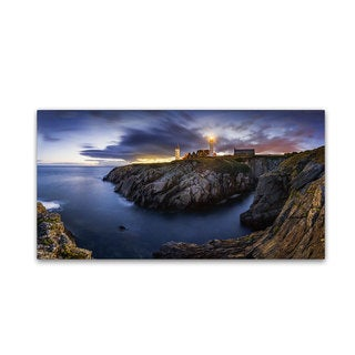 Mathieu Rivrin 'Blue Hour in Saint Mathieu' Canvas Art
