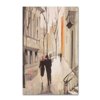 Julia Purinton 'Village Promenade Neutral' Canvas Art